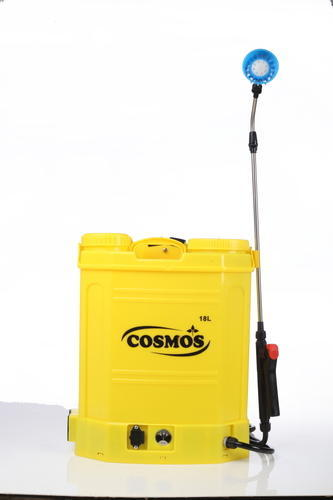 Cosmos 20 Liter PPP plastic tank with 3.6 Lpm motor and 12 Volts 8 Amp battery sprayers in bijnor up