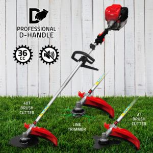 31CC Single Cylinder 4 Stroke Airforced Cool Brush Cutter ! Grass Trimmer ! Shoulder Mounted Scythe ! Paddy Reaper ! Rice Harvester-VGT-139F-SP