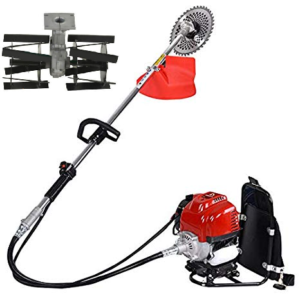 BACKPACK 2 STROKE 40ML OIL MIX GASOLINE BRUSH CUTTER+WEEDER+3T BLADE+80T TCT BLADE+PADDY GUARD+NYLON CUTTER