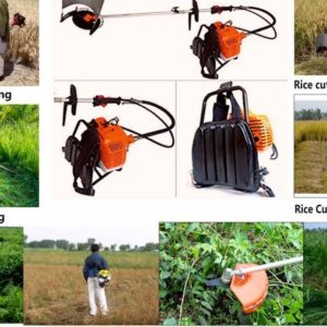 One brush cutter can do multiple work as-wheat reaper-rice cutter-grass trimmer-weedwhacker