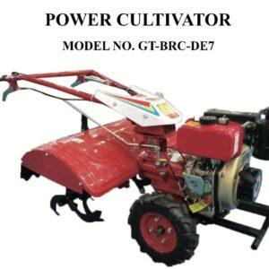 GT-SHAKTI-7 HP DIESEL ENGINE BACK ROTORY POWER TILLER SELF START-GT-BRC-DE7